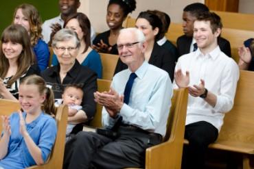 Christians at church.