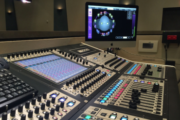 Experimental surround sound setup for Arizona church