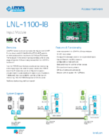 Lenel 1100 I8 Data Sheet
