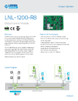 Lenel 1200 R8 Data Sheet
