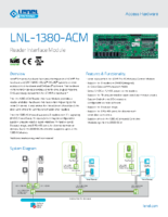 Lenel 1380 ACM Data Sheet