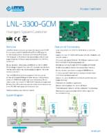 Lenel 3300 GCM Data Sheet