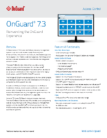 OnGuard 7.3 Data Sheet