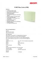 IP-DECT Base Station Data Sheet